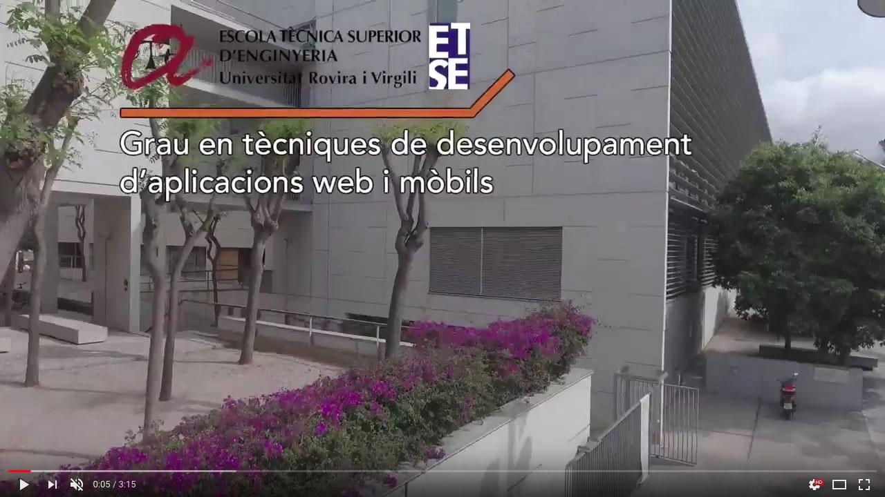 Grau en tècniques de desenvolupament d'aplicacions web i mòbils